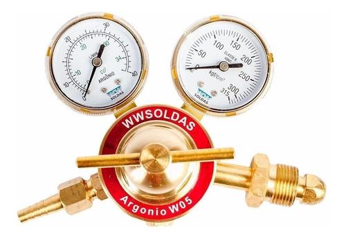 Regulador De Pressão De Argônio W05 Wwsoldas
