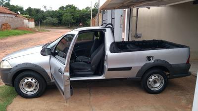 Fiat Pick-up Strada 1.4 Flex Cs 2012/13 Prata