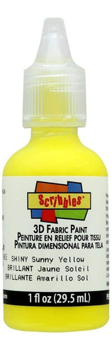 Scribbles 3d Pintura Para Tela 1oz-shiny   Amarillo Soleado