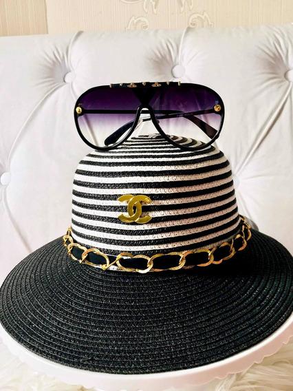 Óculos De Sol Louis Vuitton Com Chapéu
