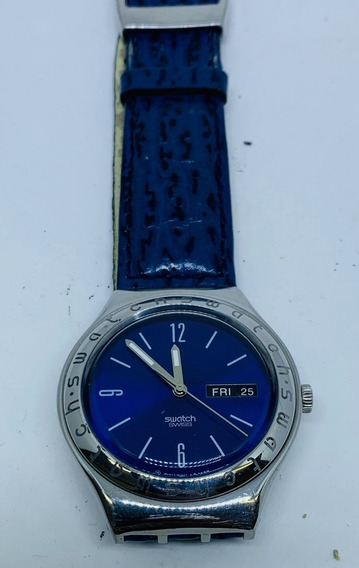 Relógio Swatch Swiss Original (azul E Vermelho)