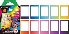 Filme Instax Mini Colorido Rainbow Kit C/ 10 Fotos Fujifilm