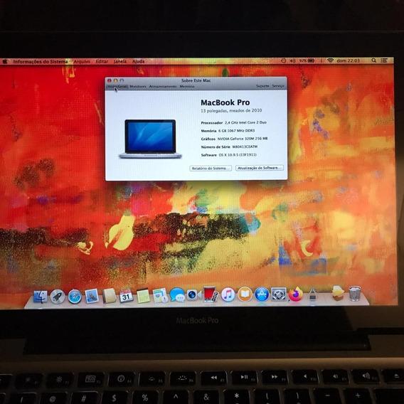 Apple Macbook Pro 13 250gb 6gb Ram 2010 Nota Ótimo Estado Us