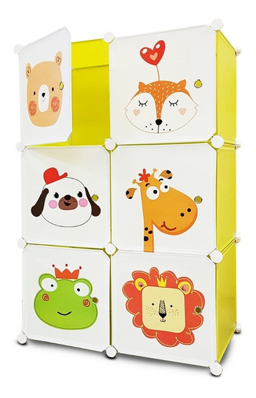 6 Modulos Diseño Infantil - Ropero Cajones Estantes Animales