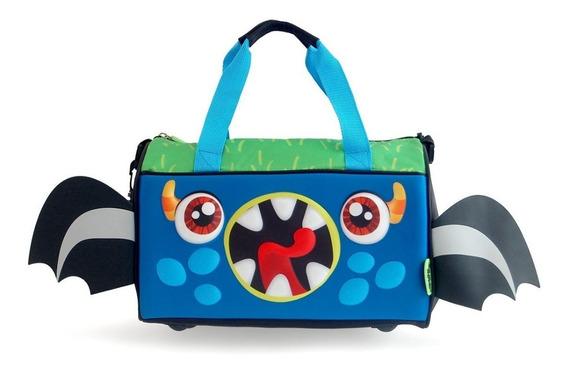 Bolso Infantil Crazy Monster 3d Nenes Colonia Pileta
