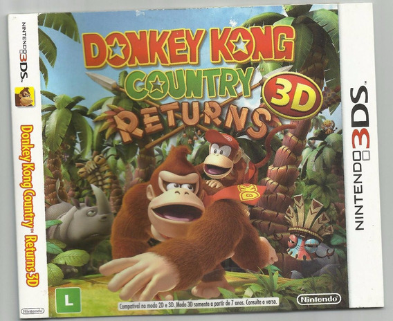 Donkey Kong Country Returns 3ds (apenas A Luva)