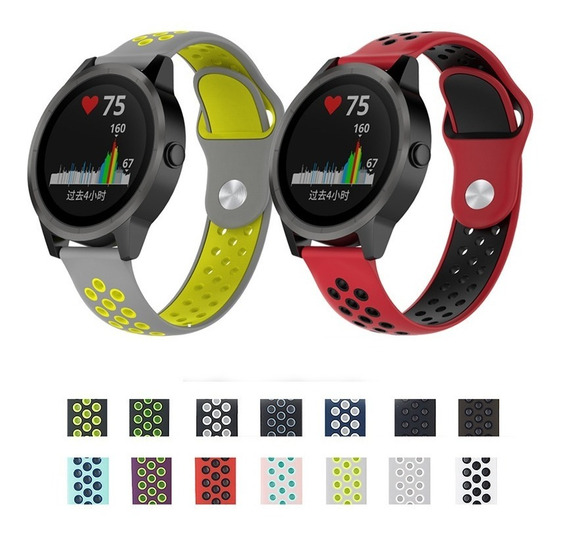 Pulseira Silicone Garmin Vivoactive 3 Music Estil Nike 20mm
