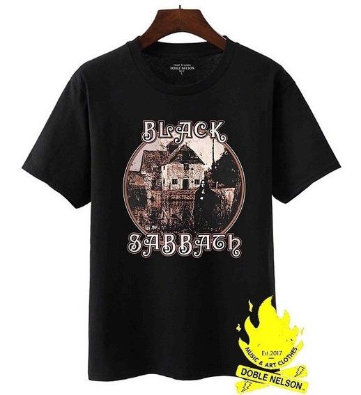 Remera Doble Nelson Mujer Black Sabbath Disco Retro Negro
