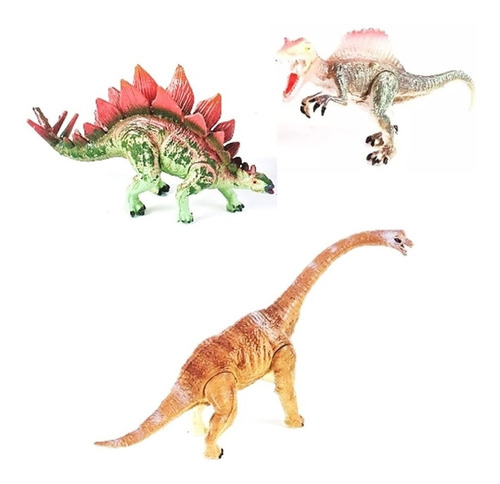 Dinosaurios Cretaceous Set X3 M1 12cm Original 99552 Bigshop