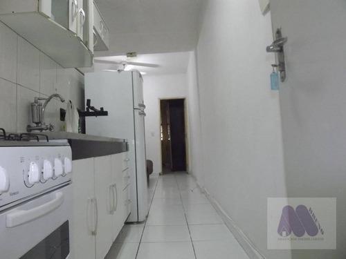 Imagem 1 de 12 de Apartamento Com 1 Dormitório À Venda, 48 M² Por R$ 220.000,00 - Boqueirão - Santos/sp - Ap1162