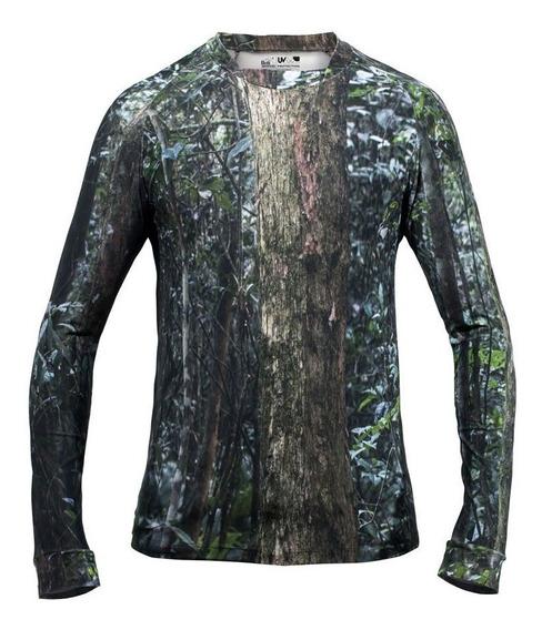 Camiseta Masculina Air Stretch Camuflada Mata Brasileira Ice
