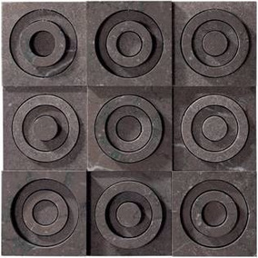 Inserto Piedra Pinsel/grau 28.5x28.5x2 Cm - Wasser
