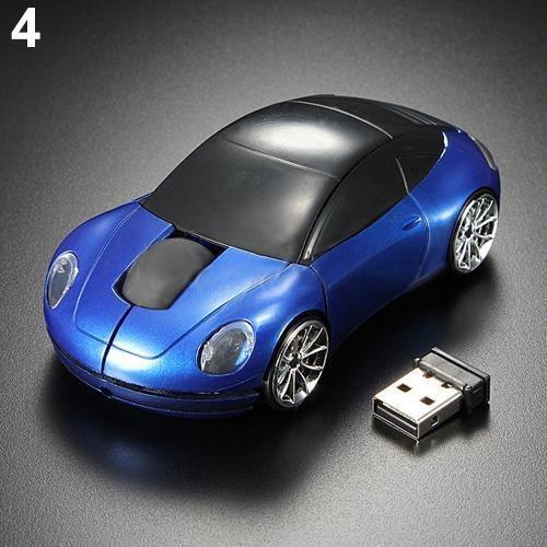 Acessórios De Computador Azul Corrida Carro Em Forma 2.4ghz