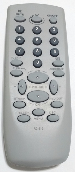 Controle Tv Cce -codigo Rc 210 (original)