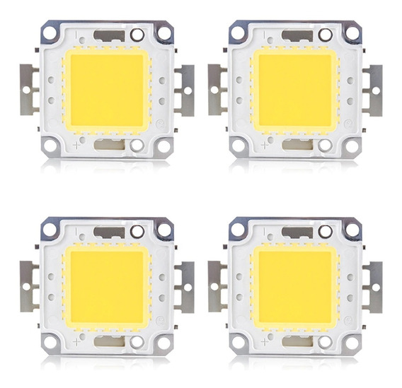 Chip De Led Para Refletor Led 200w - 50w - 100w Kit 4 Uni.