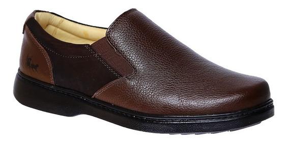 Sapato Masculino Especial Neuroma De Morton Couro Café 415