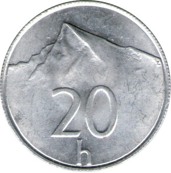 Spg Eslovaquia Slovakia 20 Haleru Varios Años Pico Krivan