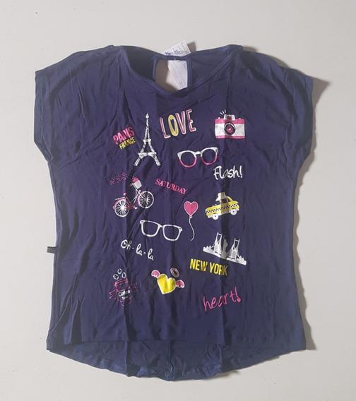 Camisa Blusa Feminina Estampada Aberta Nas Costas Manga 258