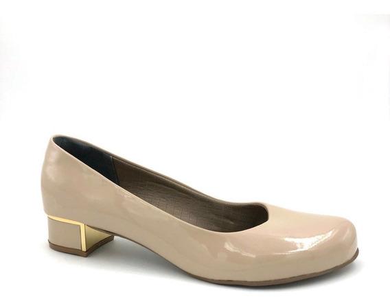 Sapato Tamanho Especial 38 A 42 Verniz Nude Adriana