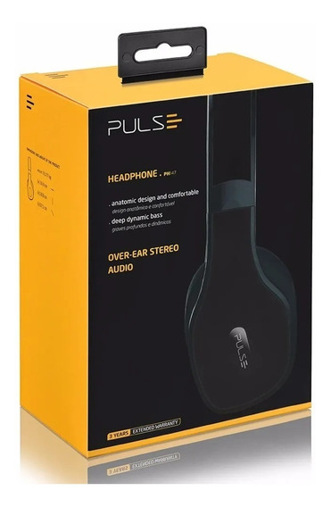 Fone De Ouvido Headphone Pulse Bluetooth 4.0 Preto Ph150