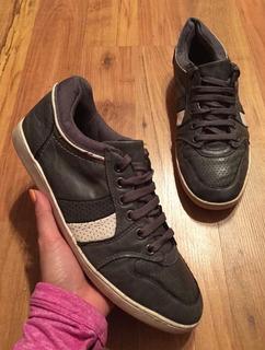 Padrisimos Zapatos Tenis Aldo Gris Con Beige 100% Originales