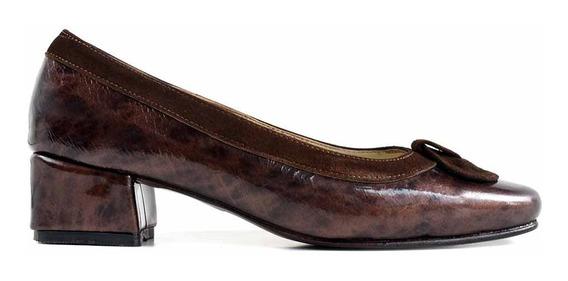 Zapato Mujer Briganti Vestir Cuero Clasico - Mccz03471 Ch