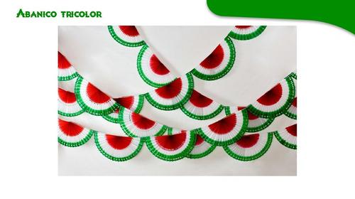 Imagen 1 de 2 de Papel Picado/ Tira Abanicotricolor Fiestas Patrias
