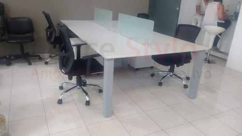 Isla De Trabajo Cuadr Escrit Coworking C/tomas 260x120