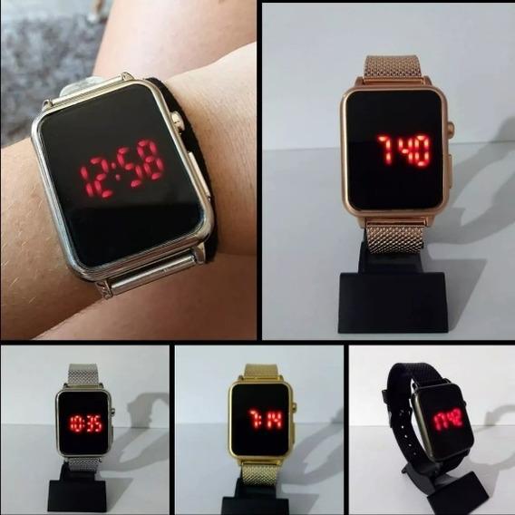 Relógio Led Quadrado Dos Famosos Digital 10 Peças
