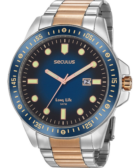 Relógio Masculino Seculus 20852gpsvga1