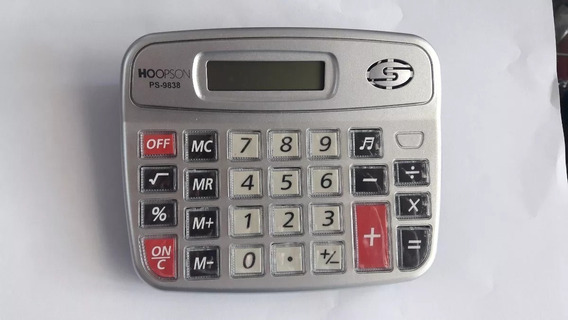 Calculadora De Mesa Básica Atacado 6 Unid Hoopson
