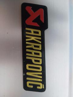 Sticker Akrapovic, Moto, Escape, Pegantina, Alta Temperatura