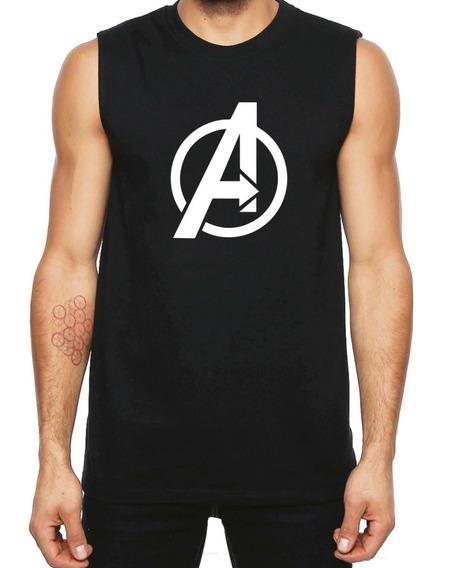 Avengers Playera Sin Mangas De Algodon Para Hacer Ejercicio