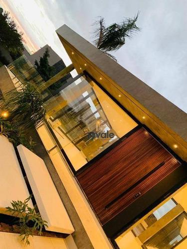 Belíssima Casa De Esquina Com 5 Suítes À Venda, 650 M² De Construção, Com Linda Vista. - Ca1264
