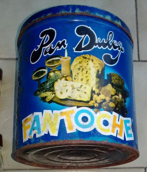 Lata Antigua Fantoche Pan Dulce Vacia 18 Cm