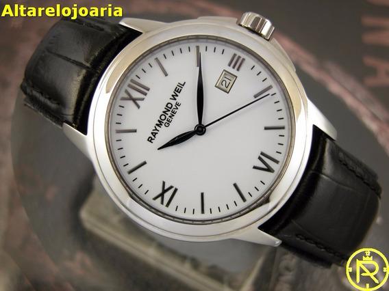 Relógio Raymond Weil Calendário Quartz Aço Vidro Safira