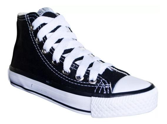 Tênis Converse All Star Cano Alto Infantil Preto/ Branco