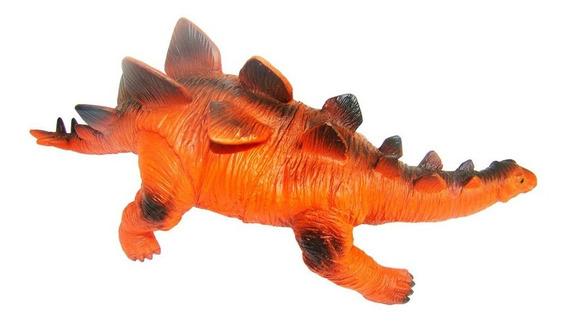 Boneco Estegossauro De Borracha E Macio Jurassic Enfeite