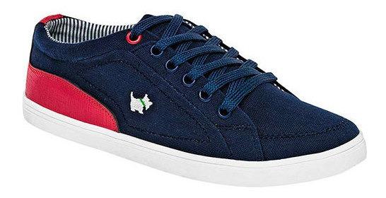 Ferrioni Tenis Casual Hombre Azul Textil Btj71845