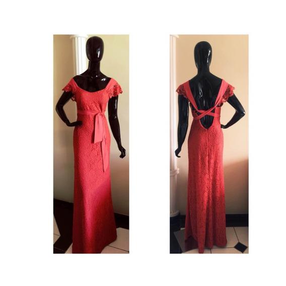 Vestido Longo Em Renda Com Etiqueta,disponível Nos Tam 36,38