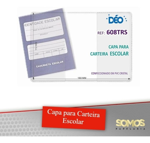 Capa Para Caderneta Escolar Kit Com 50 Peças