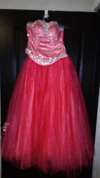 Vestido Xv Color Rosa Coral Ropa Bolsas Y Calzado En