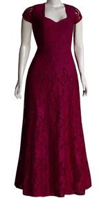 Vestido De Madrinha Em Renda Saia Evase, Plus Size F091m