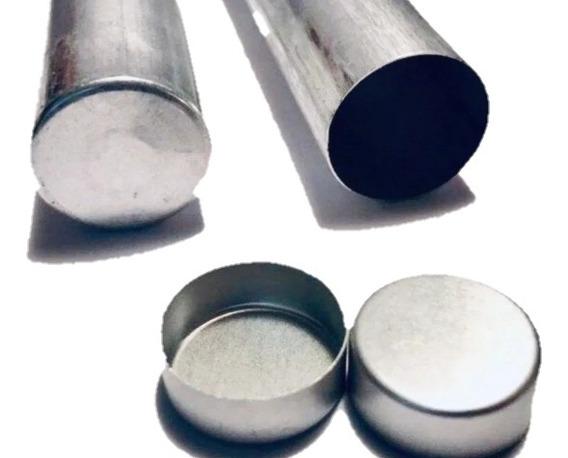 10 Cartuchos Tubos Vacíos Aluminio Para Prótesis Flexibles