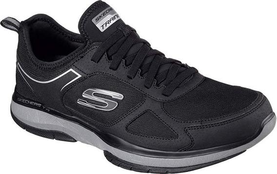 Skechers Tenis De Hombre Color Negro 100% Nuevo Y Originales