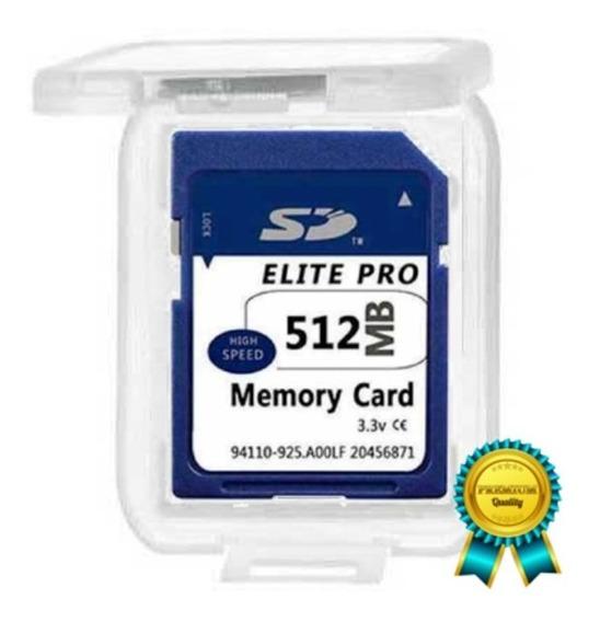 Cartão De Memória Sd 512mb ( Megabytes ) / Modelo Antigo