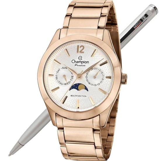 Relógio Champion Feminino Passion Multifunção Ch38271z Nfe