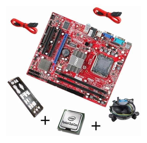 Placa Mae Ddr2 775 Msi G31tm + Dual Core Barato Promoção