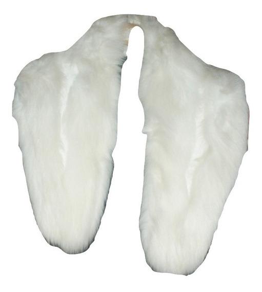 *** Estola De Piel Autentica Elegante Abrigo Cuello Vintage Blanco Marfil Fiesta Noche Boda Liquidacion $7,990a