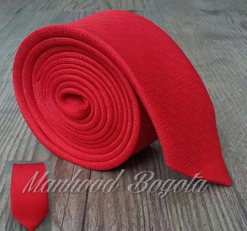 Corbatas - Roja Zig Zag Slim